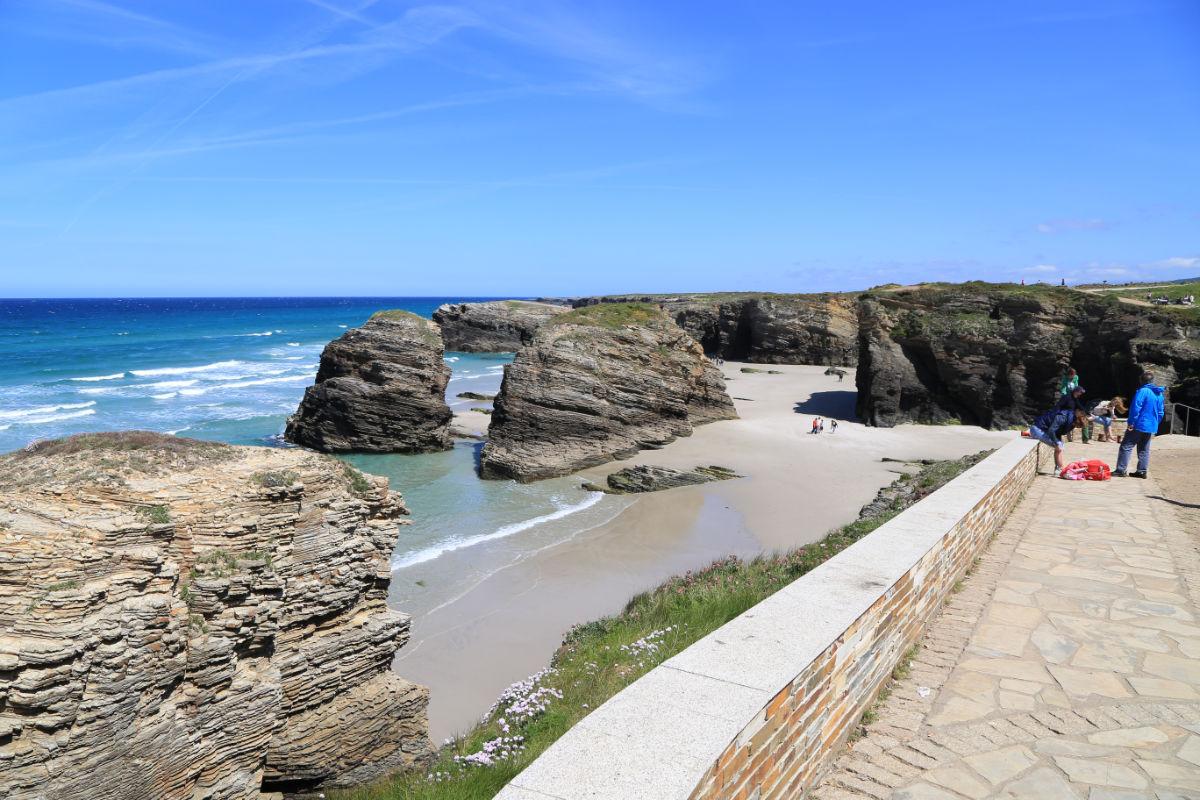 Playa de Las Catedrales, acceso a la playa