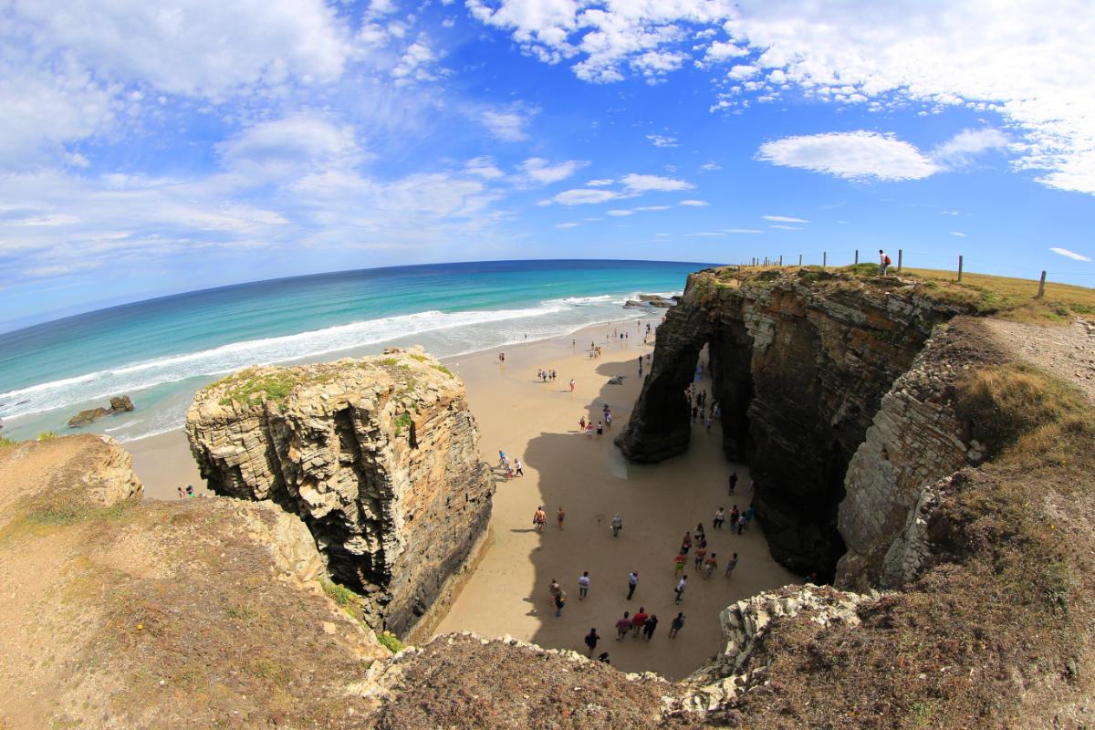 Playa de Las Catedrales - marea baja