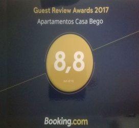 Apartamentos Casa Bego -  Premio Booking.com 2017 - Apartamentos Casa Bego